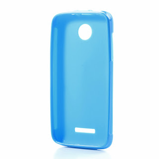Skidproof TPU Jelly Case for Lenovo A390 - Blue