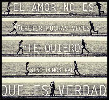 Frases de amor, repetir, te quiero, demostrar, verdad.