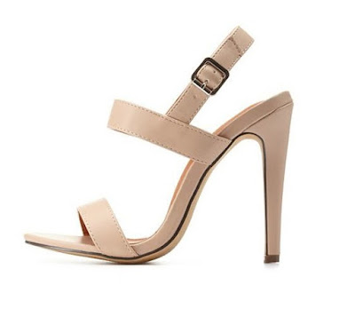 Charlotte Russe Nude strappy high heels