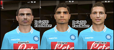 Napoli Face Pack For PES 2014 By DzGeNiO
