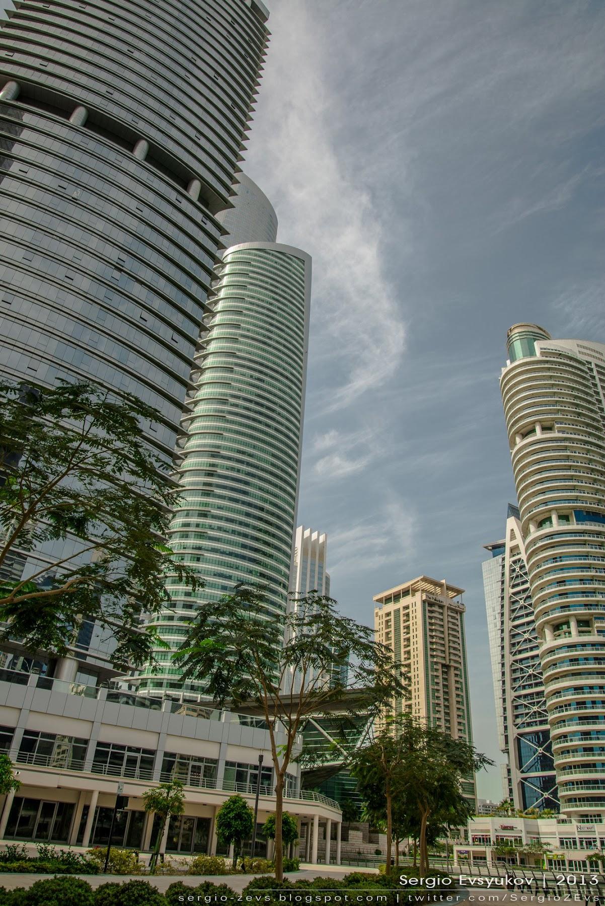Деревья, Дубай, Небоскребы, туризм, i2 Platinum Tower