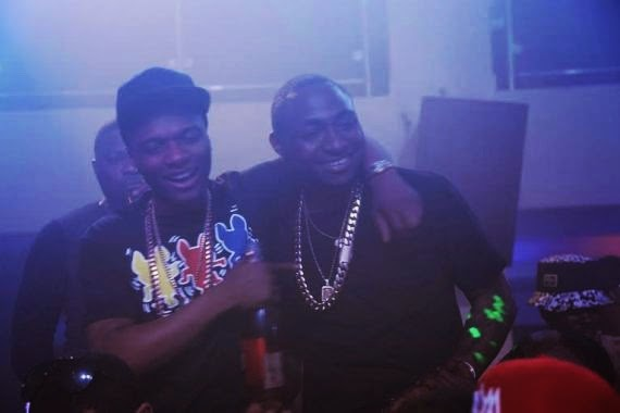 Wizkid and davido party together