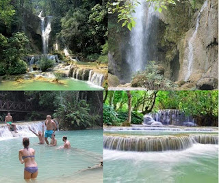 Kuang Si Air Terjun Populer di Laos