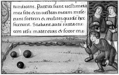 a Medieval game of Bowls