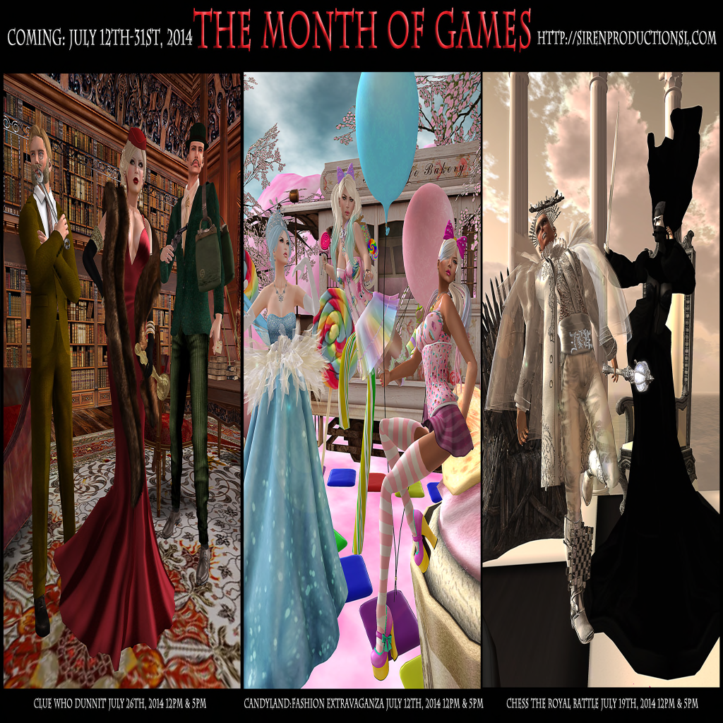 Month of Games Starts Today! (7.12.2014)