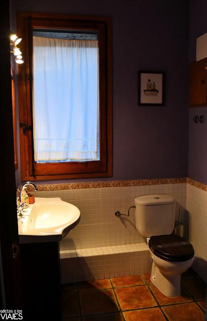 Baño de la habitación El Cirerer de la Casa Etxalde