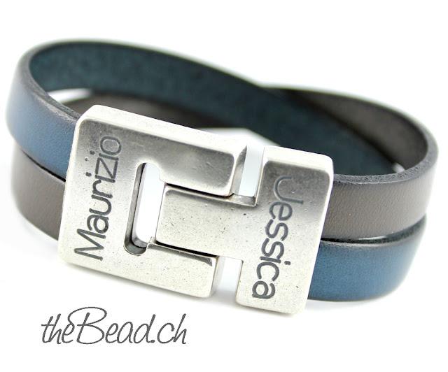 Herren Armband und Damen Armband mit Namensgravur