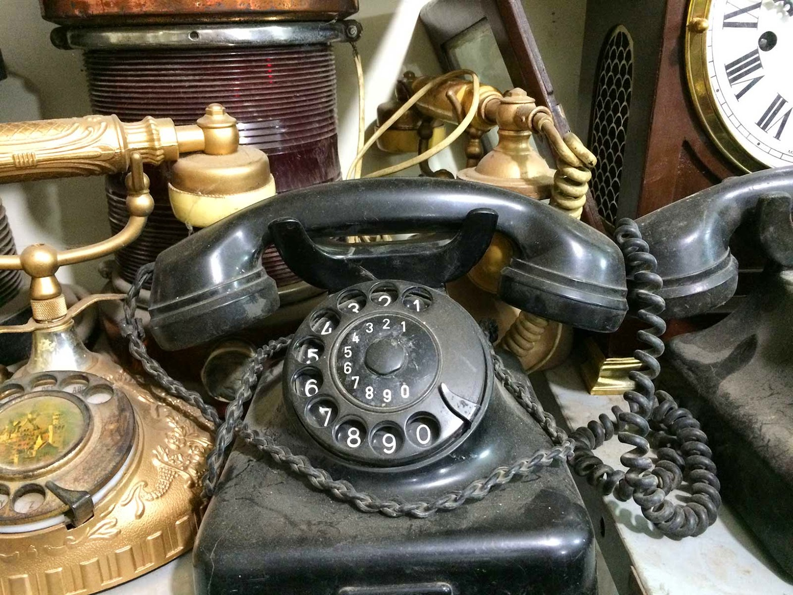 old antique telephone
