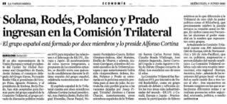 España Comision trilateral