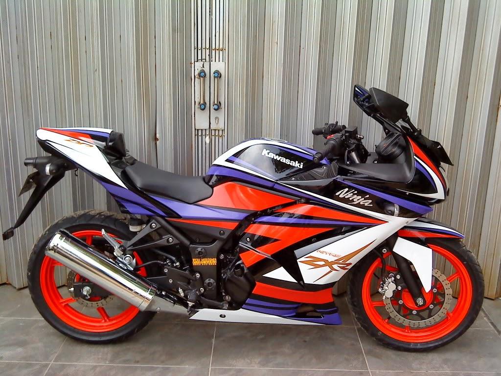 Gambar Modifikasi Cutting Sticker Kawasaki Ninja 250