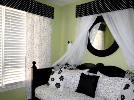 fashion design decorating inspiration black white room