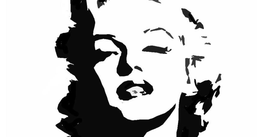 amazing stencils   marilyn monroe stencil