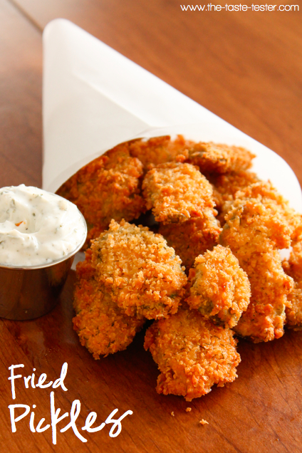 Fried Pickles www.the-taste-tester.com #recipe #appetizer