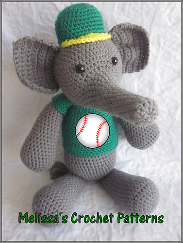 Ella The Elephant Free Crochet Pattern : Melissas Crochet Patterns: Happy Save the Elephant Day ...