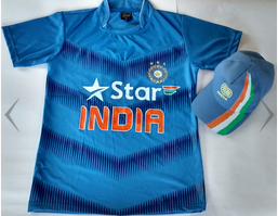 United Shoppe 9004 India Jersey & Cap Combo