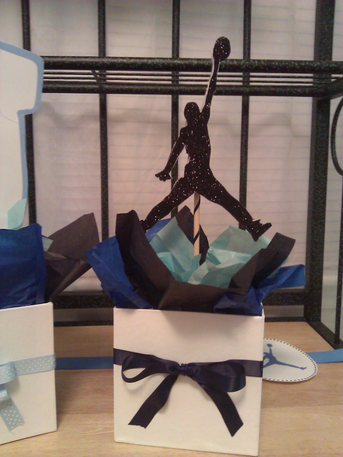 Jordan Inspired Baby Shower. Posted By Solutions...Weddings By Kelly At  2:56 PM