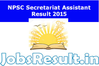 NPSC Secretariat Assistant Result 2015