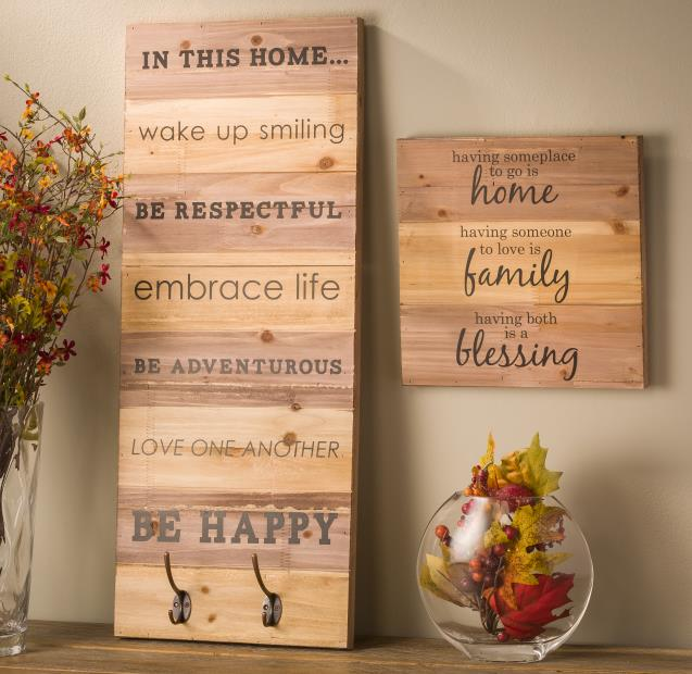 Wood Wall Hanging Planks @craftsavy, #craftwarehouse, #homedecor, #diy, #wallart