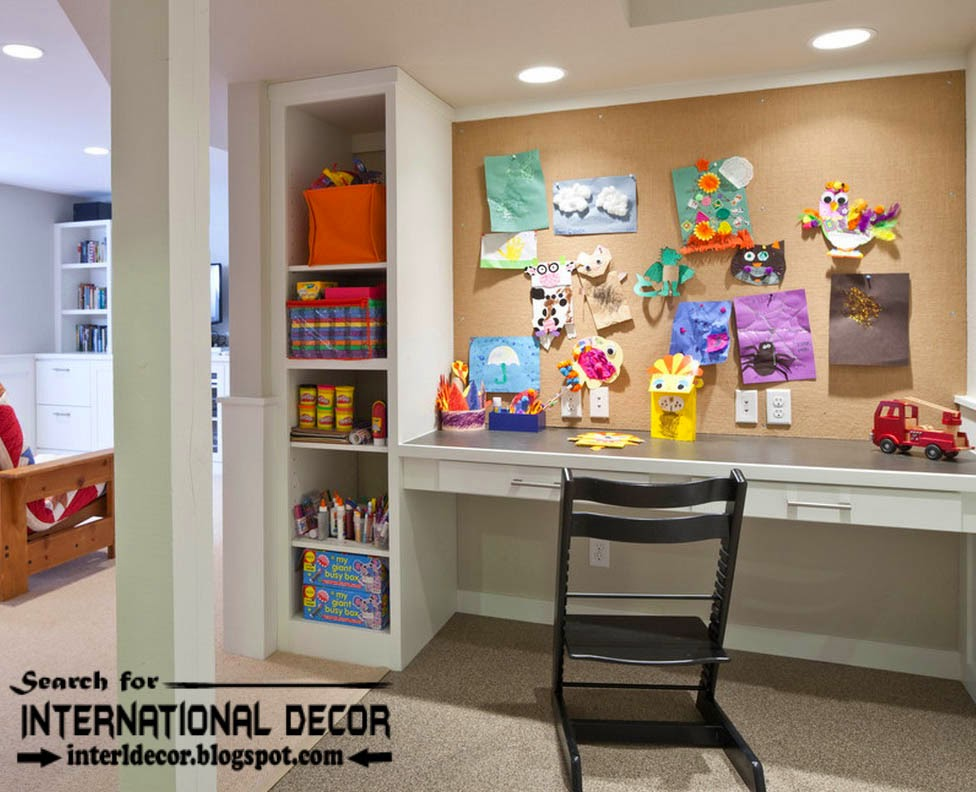 create creative study space for kids room, study space ideas, furniture for kids room