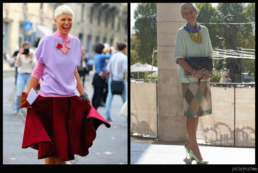 Elisa Nalin Colorblock style