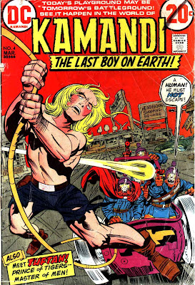 Kamandi v1 #4 dc 1970s bronze age comic book cover art by Jack Kirby