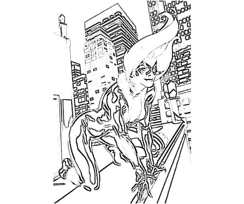 printable-the-amazing-spider-man-blackcat_coloring-pages