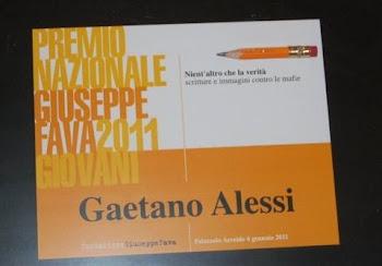 AdEst e Gaetano Alessi - Premio Fava 2011 per il giornalismo
