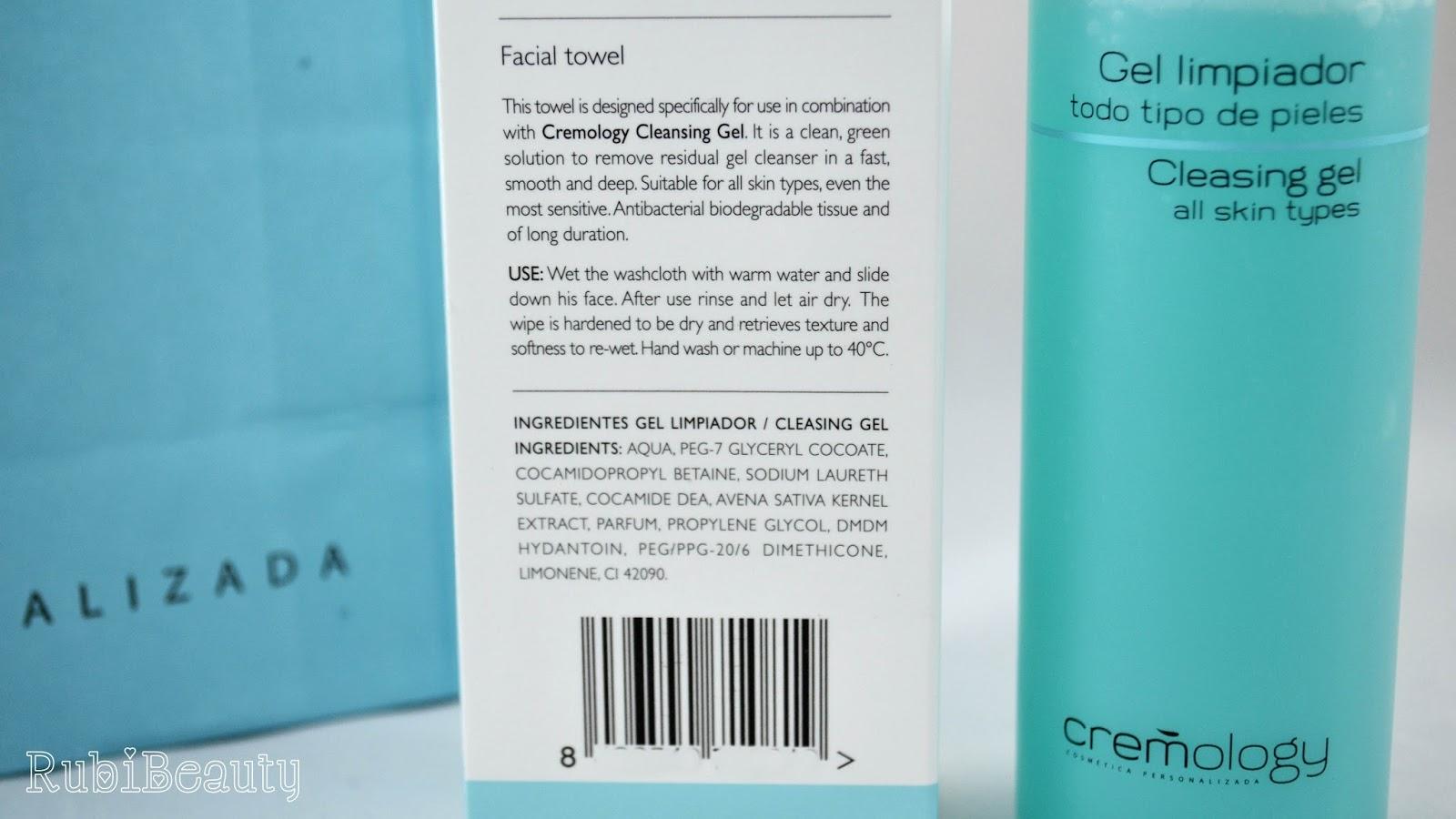 rubibeauty review opinion cremology gel limpiador rutina facial personalizada ingredientes