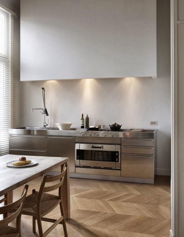 Cucina in acciaio s o no la tazzina blu - Maniglie cucina acciaio ...