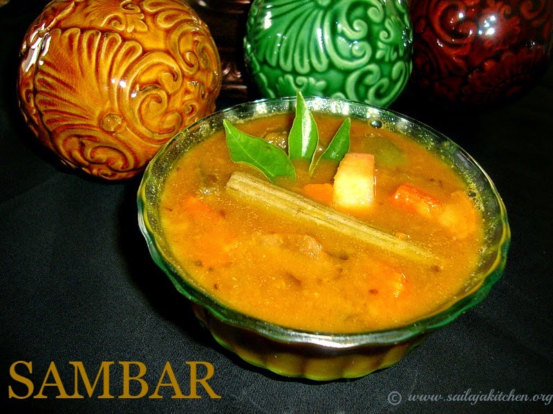 images for Sambar Recipe / Mixed Vegetable Sambar Recipe / South Indian Sambar Recipe