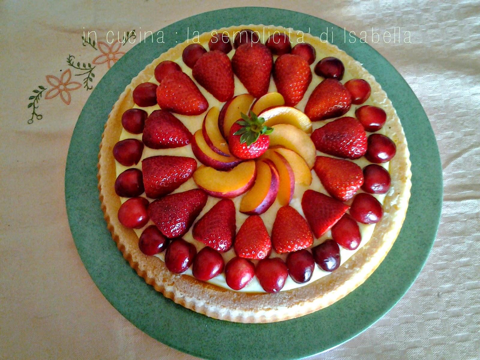 Torta morbida alla frutta con crema al limone !!!