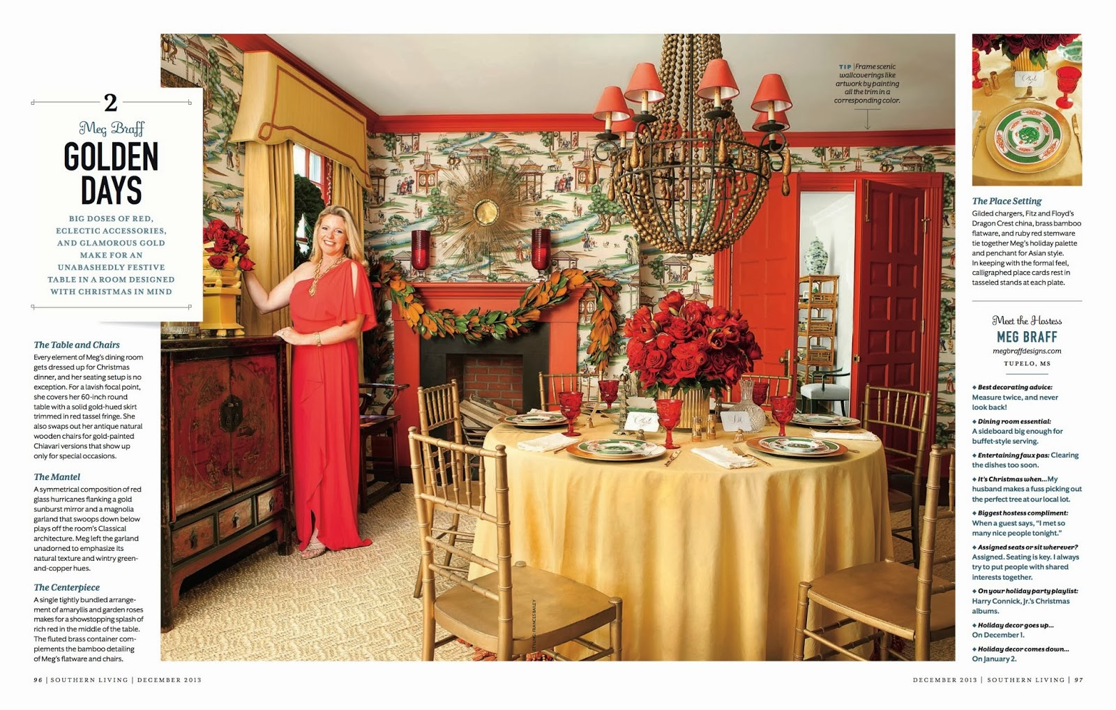 sybaritic spaces seeing red meg braff in southern living