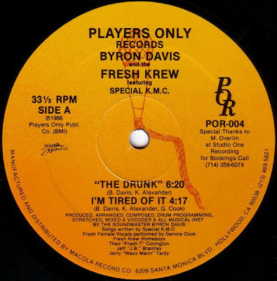 Byron Davis And The Fresh Krew – The Drunk (1986, VLS, 192)