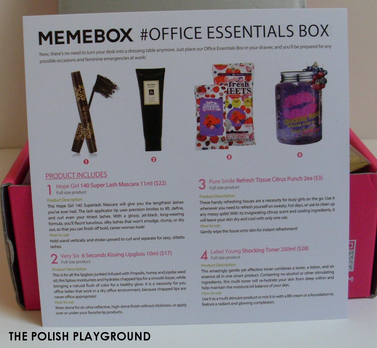 Memebox Office Essentials Unboxing