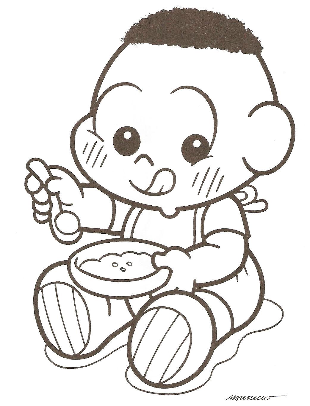 desenhos para colorir e imprimir turma da mÔnica