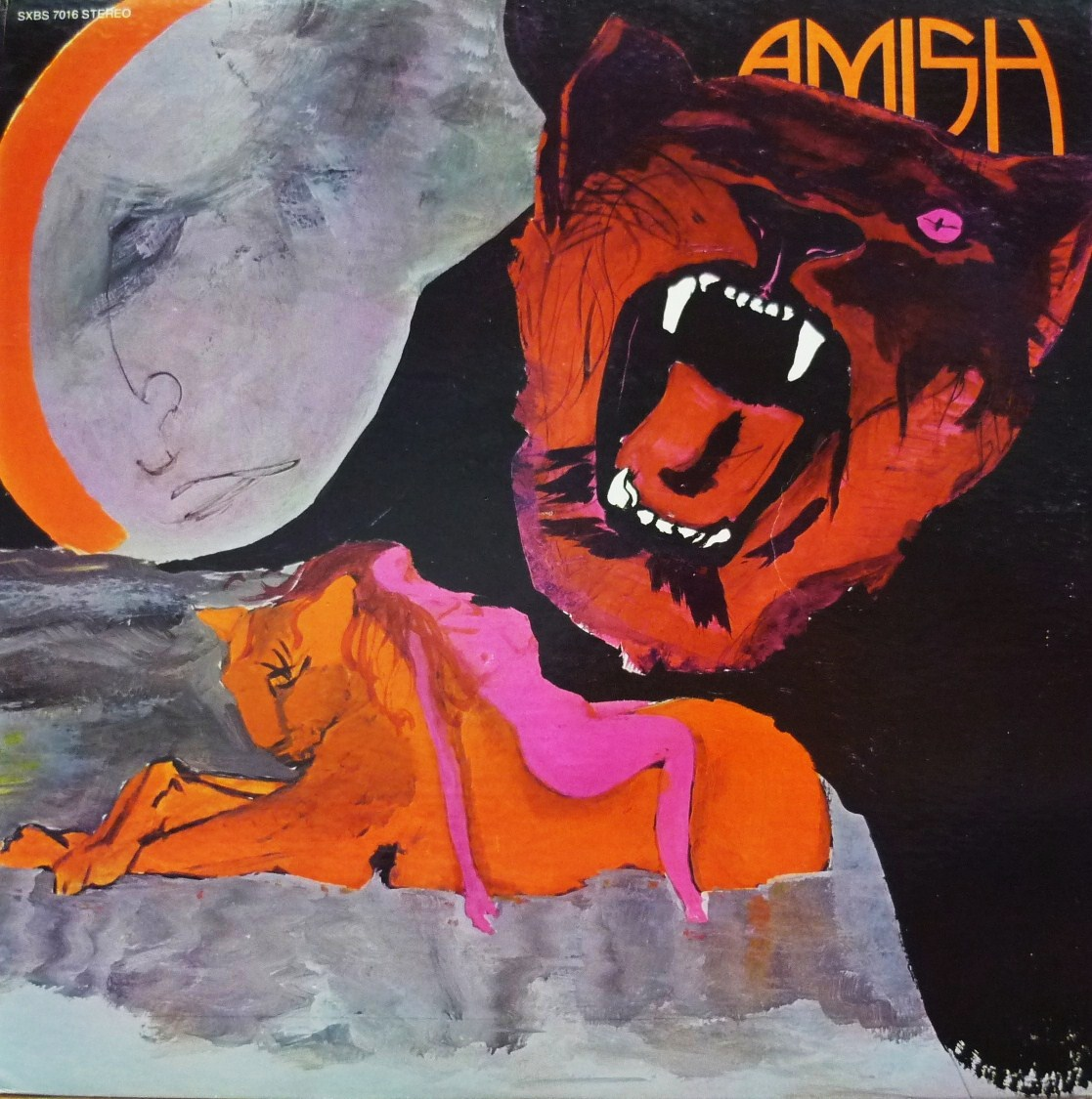 """""""Amish"""" foi uma banda canadense formada em 1970 em Ontário, mais precisamente em uma localidade chamada Galt, e nesse local acabou se desenvolvendo uma comunidade """"Amish""""!!!  Para quem não sabe, """"Amish"""" são comunidades (ou seitas) de pessoas que levam a vida como se estivessem há uns dois séculos atrás, longe do progresso e das indústrias, eletricidade ou automóveis. Eles lançaram um único álbum auto-intitulado em 1972, que foi distribuído pela Buddah Records, apenas 1000 cópias impresas, produzido por """"Mike Theodore"""" & """"Dennis Coffey"""". Então este álbum torna-se muito inusitado, pois a banda foi formada por músicos que eram admiradores do estilo de vida """"Amish"""". A sonoridade é um típico hard rock setentista com pitadas progressivas/psicodélicas e com um Hammond muito competente fazendo a diferença, o vocal também é bem marcante e poderoso, destaque para a faixa 2 (Black Lace Woman), faixa 6 (Dear Mr. Fantasy) e faixa 7 (Sea).  Após a gravação de um segundo álbum, que não foi liberado pela gravadora, """"Ron Baumtrog"""" (teclado) foi substituído por """"Gery Mertz"""". A banda continuou por alguns anos e logo se desfez, hoje """"Baumtrog"""" é o Coordenador do MetoKote Canadá, em Cambridge, Ontário; """"Mike Gingrich"""" foi tocar com a """"NightWinds"""" no final de 1970, foi baixista da """"Klaatu"""" de novembro de 1981 até agosto de 1982, """"Headpins"""" e """"Holly Woods"""" em 1983 e """"Toronto"""" em 1984; """"Doug Stagg"""" faleceu em 1999."""