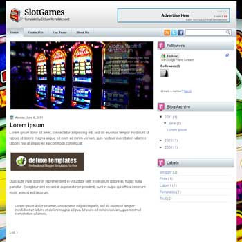 SlotGames blogger template. games template blog