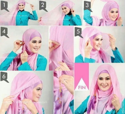 Hijab pesta simple pesta