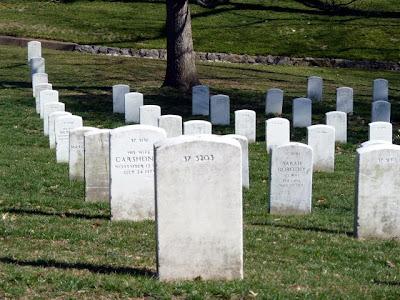 Lápidas de soldados americanos en Arlington