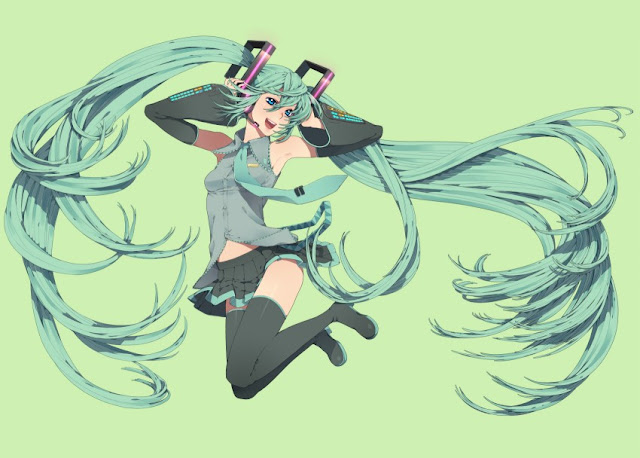 Happy Hatsune Miku, Vocaloid wallpapers, Nayu anime