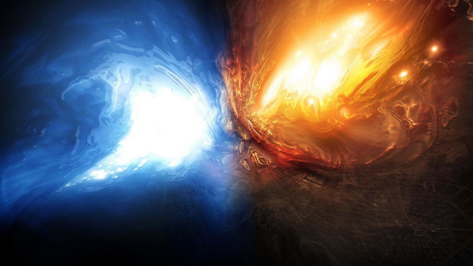Ligação do céu com a Terra, Fogo e Aguá