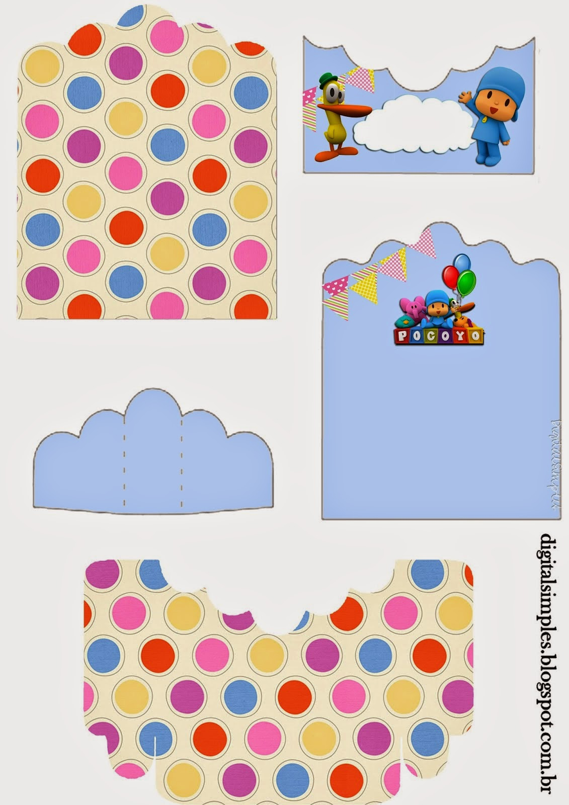 Pocoyo Free Printable Candy Package Support.