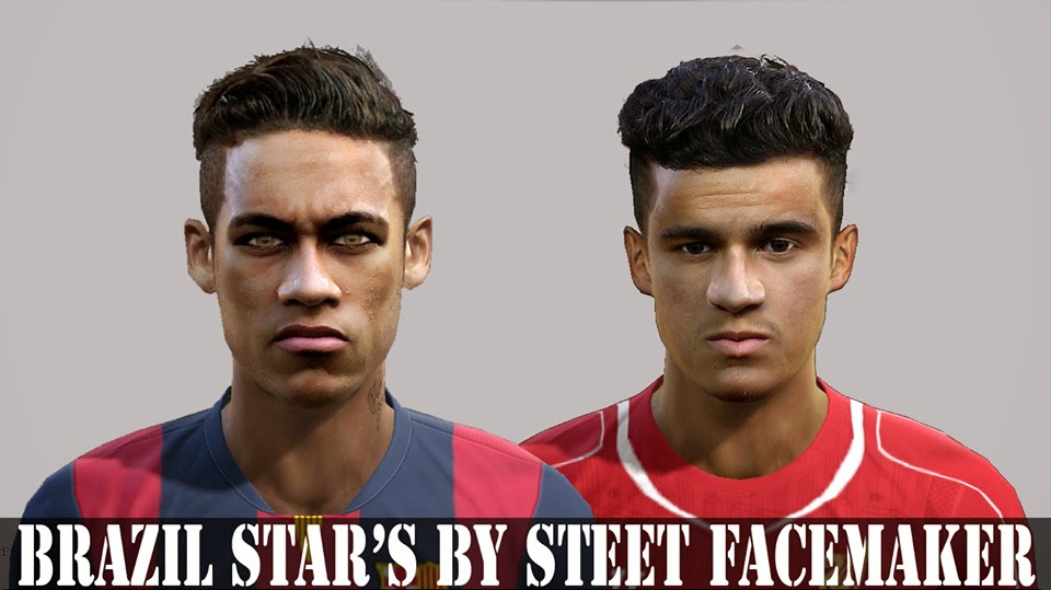 PES 2013 Brazil Star's Facepack By Steet Facemaker