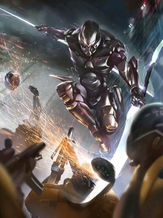 Kai Lim deviantart ilustrações ficção científica games robôs mechas batalhas guerras