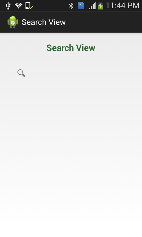 SearchView Functionality