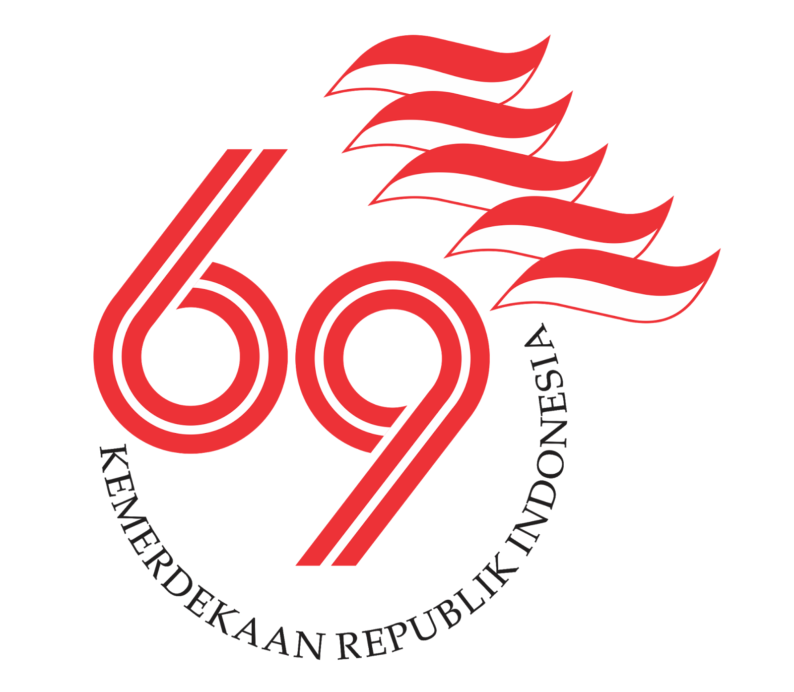 LOGO PERINGATAN HUT KE-69 KEMERDEKAAN REPUBLIK INDONESIA TAHUN 2014