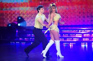 Ayelén Paleo bailó Cumbia en Bailando 2012