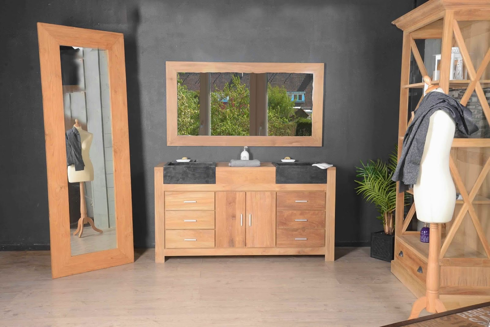 meuble salle de bain bois 2 vasques meuble d coration maison. Black Bedroom Furniture Sets. Home Design Ideas