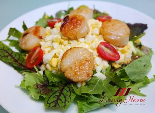 parmesan cheese hokkaido scallops salad recipe