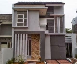 desain rumah minimalis type 54 2 lantai hook modern